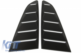Classic Quarter Side Window Louvers suitable for FORD Mustang Mk6 VI Sixth Generation (2015-2019) Matte Black - SWLFMU
