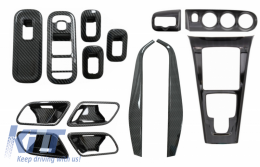 Complet Kit Interior Frames Decorative suitable for Mercedes A W177 V177 (2018-up) Carbon Film - COCBMBW177INFRCPNDC