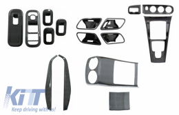 Complet Kit Interior Frames Decorative suitable for Mercedes A W177 V177 (2018-up) with Rear Armrest Box Air Outlet Trim Cover Carbon Film - COCBMBW177INFRCPNDCRC