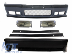 Complete Body Kit BMW 3 Series E36 1992-1998 M3 Design with Fog Lights Side Skirts - COCBBME36M3SSNLB