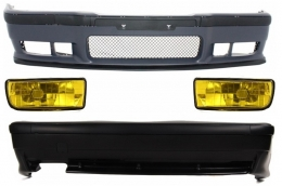 Complete Body Kit BMW 3er E36 (1992-1998) M3 Design With Yellow Fog Lights  - COCBBME36M3FY
