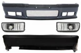 Complete Body Kit  BMW 3er E36 (1992-1998) M3 Design With Chrome Fog Lights  - COCBBME36M3FC