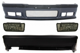 Complete Body Kit BMW 3er E36 (1992-1998) M3 Design With Smoke Fog Lights  - COCBBME36M3FS