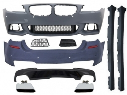 Complete Body Kit BMW 5 Series F10 (2010-2017) M-Technik 550i Design Brilliant Black Edition - COCBBMF10MTLCI550I