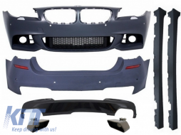 Complete Body Kit BMW F10 5 Series (2014-up) Facelift LCI M-Technik 550i Design Brilliant All Black Edition - COCBBMF10MTLCIWF550IB