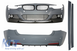 Complete Body Kit BMW F30 (2011-up) M-Performance Design with Front Grilles Piano Black frame/ Matte - COCBBMF30MPG