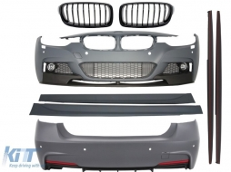 Complete Body Kit BMW F30 (2011-up) M-Performance Design+Central Grille Piano Black - COCBBMF30MPSOG