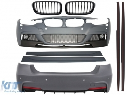 Complete Body Kit BMW F30 (2011-up) M-Performance Design+Front Grille Piano Black - COCBBMF30MPDSOBG