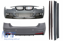 Complete Body Kit BMW F30 (2011-up) M-Performance Design with Front Grilles M-Power Lokk Piano Black - COCBBMF30MPSOGPB