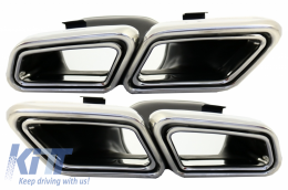 Complete Body Kit + Exhaust Tips suitable for MERCEDES Benz W222 S-Class (2013-up) S65 S63 AMG Design - COCBMBW222AMGS63C