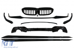 Complete Body Kit Extensions suitable for BMW 3 Series G20 Sedan G21 Touring (2018-2019) M Design Piano Black - CBBMG20MP