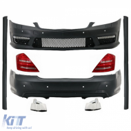 Complete Body Kit for Mercedes-Benz S-Class W221 Exhaust Muffler Tips LED Taillights 2005-2011 (LWB) AMG Design - COCBMBW221AMGS65