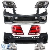 Complete Body Kit GLK (X204) (2008-2011) Pre-Facelift AMG Design with Headlights LED DRL and Taillights LED