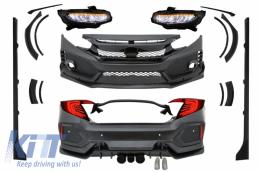 Complete Body Kit Honda Civic MK10 (FC/FK) 2016+ Sedan Type R Design - COCBHOCIFKRS