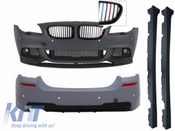 Complete Body Kit M-Performance Design with Front Grills Kidney 3 Colors M-Power Look BMW F10 5 Series 2011+ - COCBBMF10MPTH3C