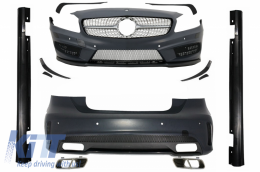 Complete Body Kit Mercedes A-Class W176 (2012-up) A45 AMG Design with Splitters Fins Aero - COCBMBW176AMG