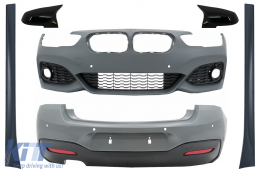 Complete Body Kit suitable for BMW 1 Series F20 LCI (2015-2018) with Mirror Covers M-Technik Design - COCBBMF20MTLCIMB