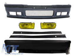 Complete Body Kit suitable for BMW 3 Series E36 1992-1998 M3 Design with Fog Lights Side Skirts - COCBBME36M3SSNLY
