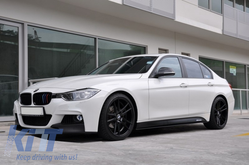 Complete Body Kit Suitable For Bmw 3 Series F30 2011 2014 F30 Lci Facelift 2015 Up M Performance Design With Double Twin Outlet Air Diffuser