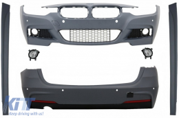 Complete Body Kit suitable for BMW 3 Series F31 (2011-2019) Touring M-Technik Design with Fog Light Projectors - COCBBMF31MTWOFFL
