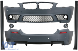 Complete Body Kit suitable for BMW 5 Series F10 (2010-2014) M5 Design with Fog Lamp - CBBMF10M5FL