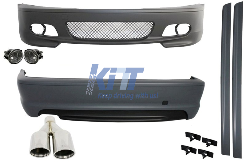Complete Body Kit Suitable For Bmw E46 98 05 3 Series Coupe Cabrio M Technik Design With Exhaust Muffler M Power