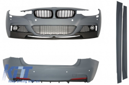 Complete Body Kit suitable for BMW F30 (2011-2014) M-Performance Design With Central Grilles Kidney  - COCBBMF30MPDPB