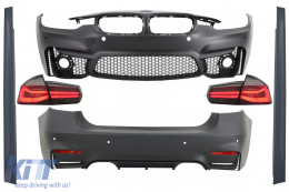 Complete Body Kit suitable for BMW F30 (2011-2019) with LED Taillights Dynamic Sequential Turning Light EVO II M3 CS Design