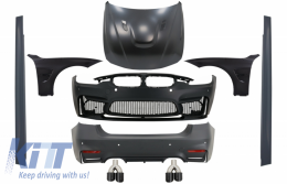 Complete Body Kit suitable for BMW F30 (2011-2019) EVO II M3 CS Style Without Fog Lamps with Front Fenders and Hood Bonnet & Tips Carbon - COCBBMF30EVOWOFBKLT74