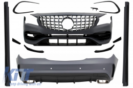 Complete Body Kit suitable for Mercedes CLA W117 C117 (2013-2018) Facelift CLA45 Design Front Grille - COCBMBW117AMGGTR