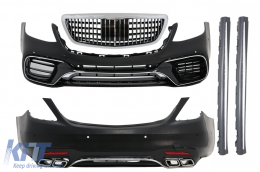 Complete Body Kit suitable for MERCEDES S-Class W222 Facelift (2013-06.2017) S63 Design - COCBMBW222AMGS63FFG