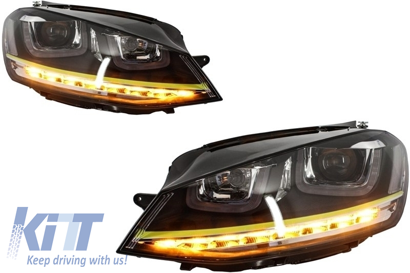 Vw Golf R400 >> Complete Body Kit Suitable For Vw Golf 7 Vii 12 R400 With Headlights 3d Led Drl Yellow Led Turn Light