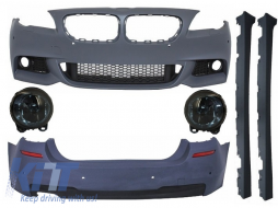Complete Body Kit with Fog Light Projectors Smoke BMW F11 (2010-2014) M Design Black - COCBBMF11MTFL