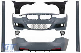 Complete Body Kit with Front Fenders and Fog Lights suitable for BMW 3 Series F30 (2011-2019) M-Technik Design - COCBBMF30MTFFBFL