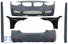 Complete Body Kit with Front Fenders Black suitable for BMW 4 Series F32 F33 Coupe Cabrio (2013-02.2017) M4 Design - COCBBMF32M4DOFFB
