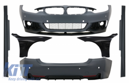 Complete Body Kit with Front Fenders Black suitable for BMW 4 Series F32 Coupe F33 Cabrio (2013-02.2017) M-Performance Design