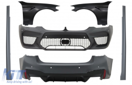 Complete Body Kit with Front Fenders Black suitable for BMW 5 Series G30 (2017-up) M5 Design - COCBBMG30M5FFB