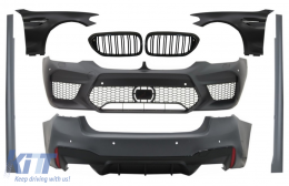 Complete Body Kit with Front Fenders Chrome and Grilles Piano Black suitable for BMW 5 Series G30 (2017-up) M5 Design - COCBBMG30M5FFFG