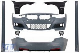 Complete Body Kit with Front Fenders Chrome and Fog Lights suitable for BMW 3 Series F30 (2011-2019) M-Technik Design - COCBBMF30MTFFFL