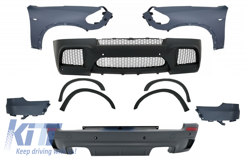 Complete Body Kit with Exhaust Muffler Tips suitable for BMW