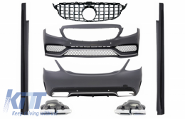 Complete Body Kit with Front Grille suitable for MERCEDES C-Class W205 Sedan (2014-2018) C63 A-Design