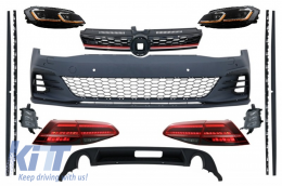 Complete Body Kit with Headlights and Taillights LED suitable for VW Golf 7.5 VII Facelift (2017-up) GTI Design