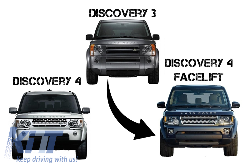 Complete Conversion Body Kit Land Rover Discovery 3 To Discovery 4