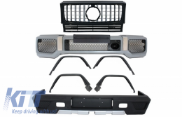 Complete Conversion Body Kit suitable for MERCEDES G-Class W463 (1989-2017) G63 G65 Design with Front Grille Panamericana Black Chrome - COFBMBW463AMGGTRCN