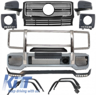 Complete Conversion Front Bumper Assembly Mercedes Benz W463 G-Class (1989-up) G63 AMG Design  - COCBMBW463AMGFB