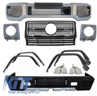 Complete Conversion Retrofit Body Kit + Exhaust Tips Mercedes Benz W463 G-Class (1989-up) G63 G65 AMG Design - COCBMBW463FAMGE