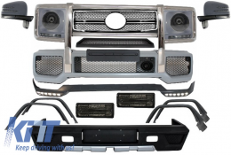 Complete Conversion Retrofit Body Kit suitable for MERCEDES Benz W463 G-Class (1989-up) G63 G65 B Design All Black - COCBMBW463AMGLB