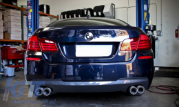 Complete Exhaust System suitable for BMW 5 Series F10 (2011-2016) 102-433/70RS Twin Double Exhaust Pipes - ESBMF10C