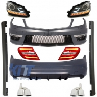 Complete Exterior Body Kit Mercedes C-class W204 Facelift C63 AMG