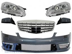 Complete Facelift Retrofit Front Conversion suitable for Mercedes W221 S-Class (2005-2009) S63 S65 Design - COFBMBW221AMG